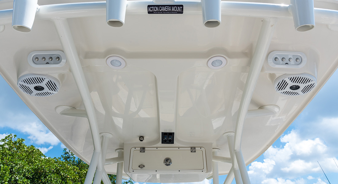 220 Center Console - View of Hard Top
