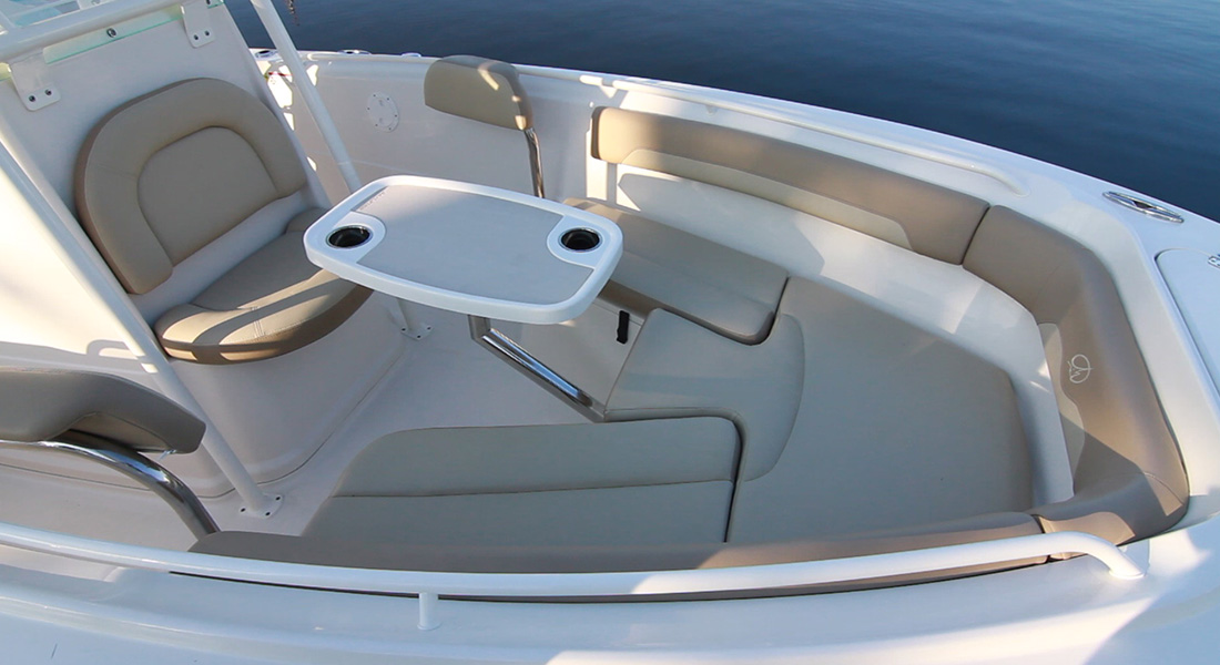 220 Center Console - Removable Bow Table Installed