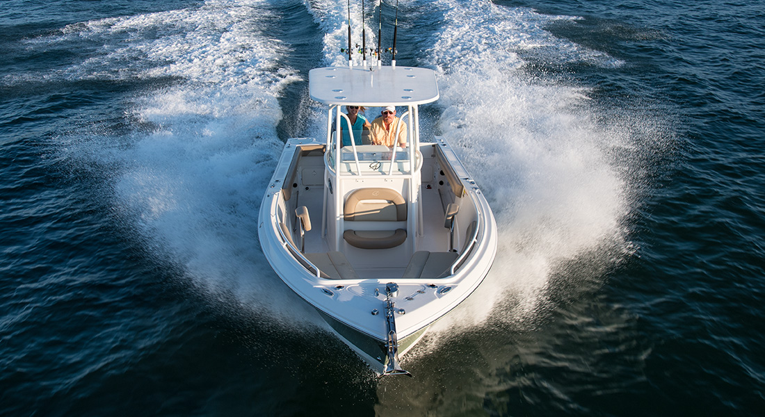 242 Center Console - Aerial Bow View