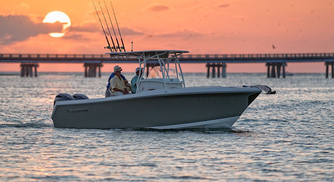 242 Center Console - Idling In The Bay At Sunset