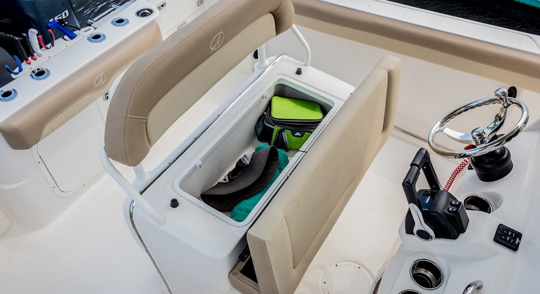 242 Center Console - Leaning Post Underseat Storage