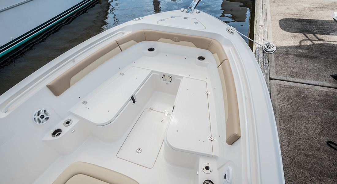 241 Center Console - Bow Seating Without Cushions