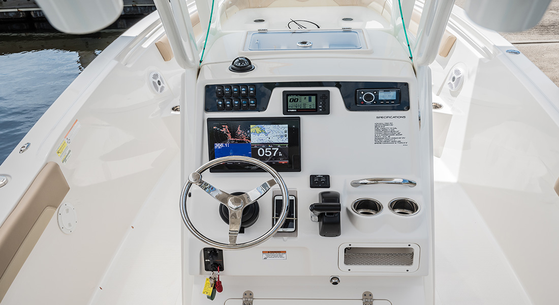 241 Center Console - Helm View
