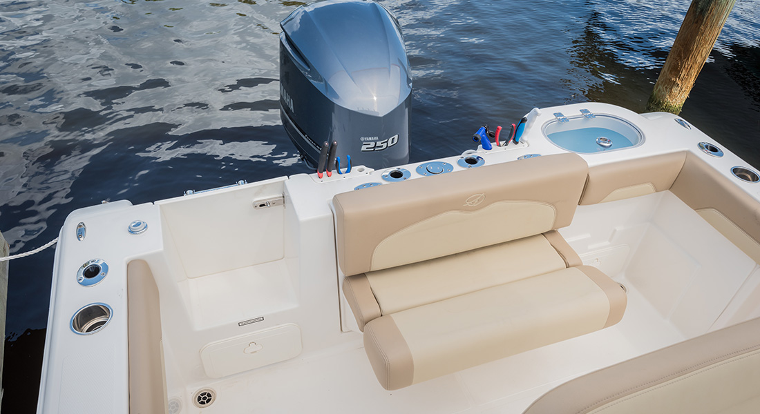 241 Center Console - Aft Flip-Up Bolster Seating in Down Position
