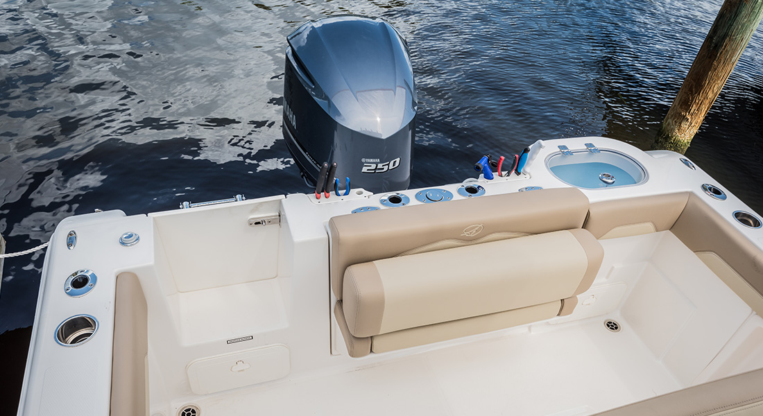 241 Center Console - Aft Flip-Up Bolster Seating in Up Position